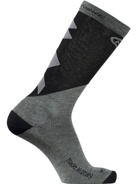 Northwave Extreme Pro High Socks Men grey melange/black